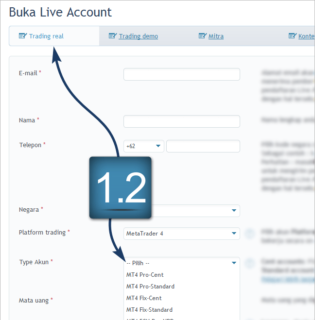 Open cent account